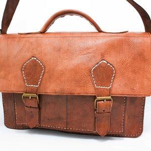 Handbags - Handmad Leather Brief Case and Computer